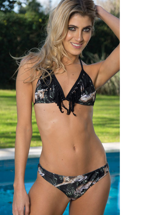 Malla triangulito jungle soft desmontable c/flecos laser y colaless
