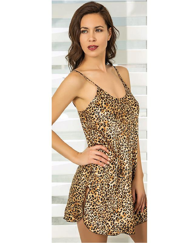 Camisola raso estampado animal print