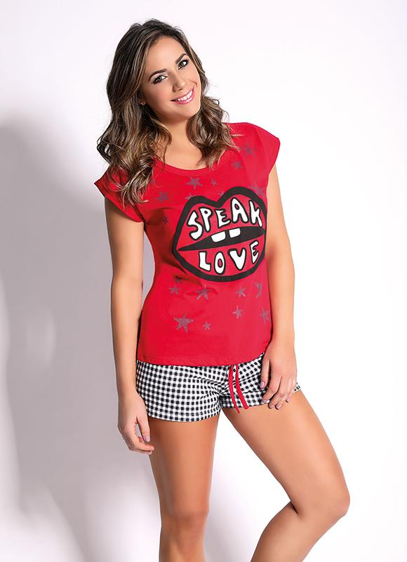 PIJAMA DAMA SPEAK LOVE Jersey/Algodon