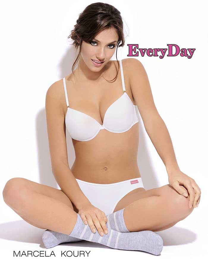 "Conj Tasa soft con push up y Vedettina en algodon y lycra liso ""EVERYDAY COTTON"""