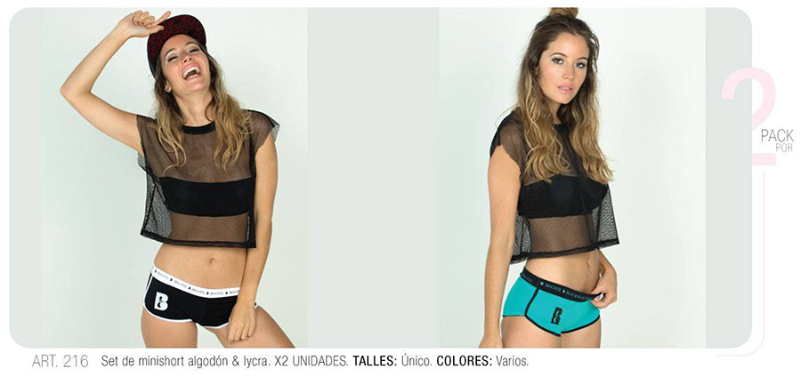 Mini short algodon y lycra con estampa