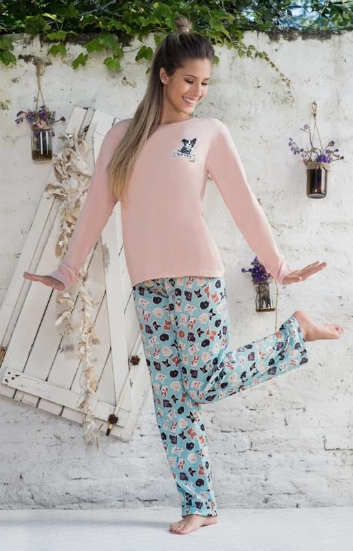 "Pijama teens jersey de algodon ""love dog"""